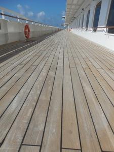 The promenade deck